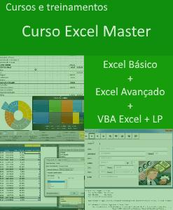 Curso Excel master básico avançado vba