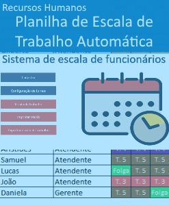 Planilha de escala de trabalho Excel Automática