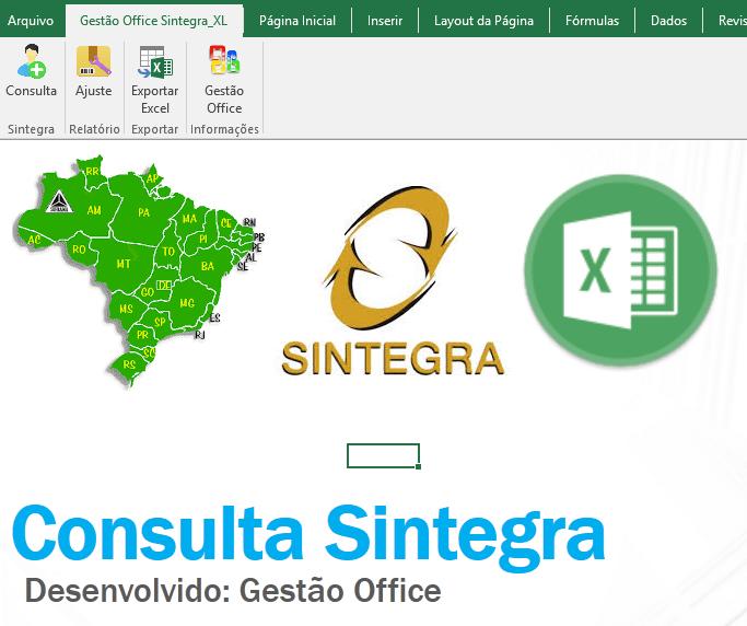 Planilha de consulta SINTEGRA Inscrição Estadual