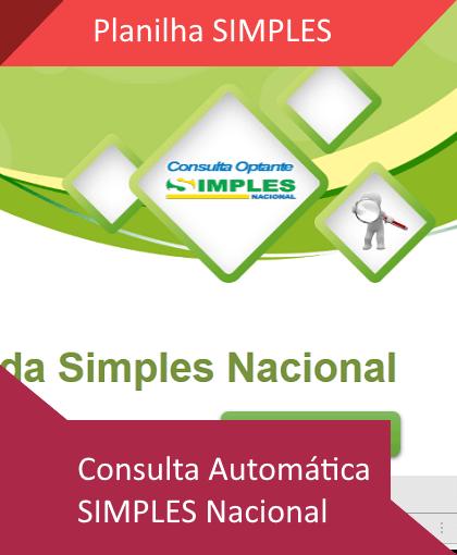 Planilha consulta SIMPLES Nacional