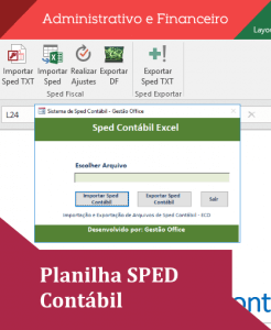 Planilha SPED Contábil