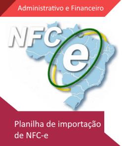 Planilha de importação de NFCe