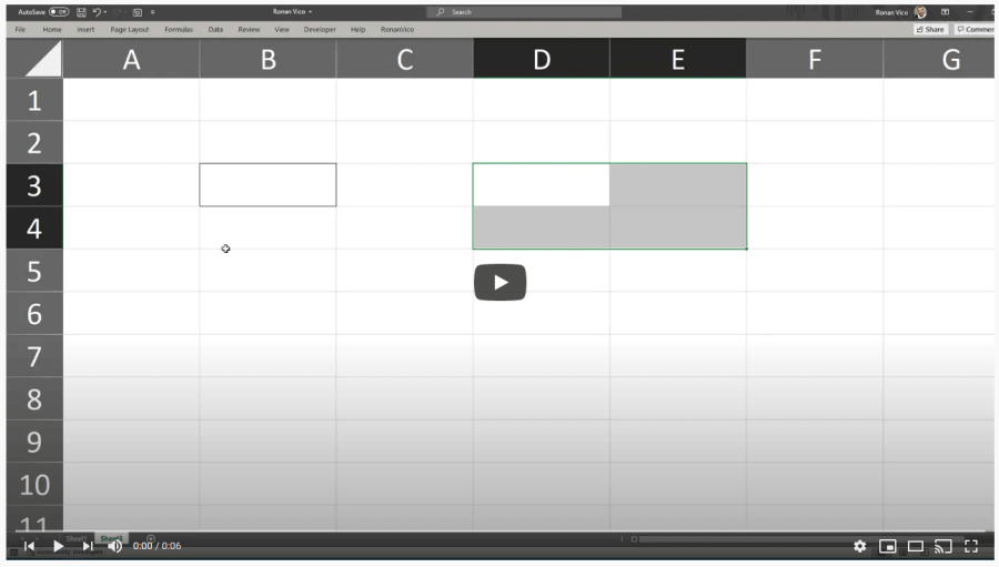 Jogo Treinamento Atalhos do Excel 5