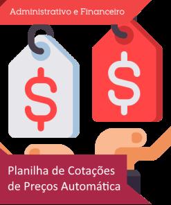 Planilha de cotações de preços automática