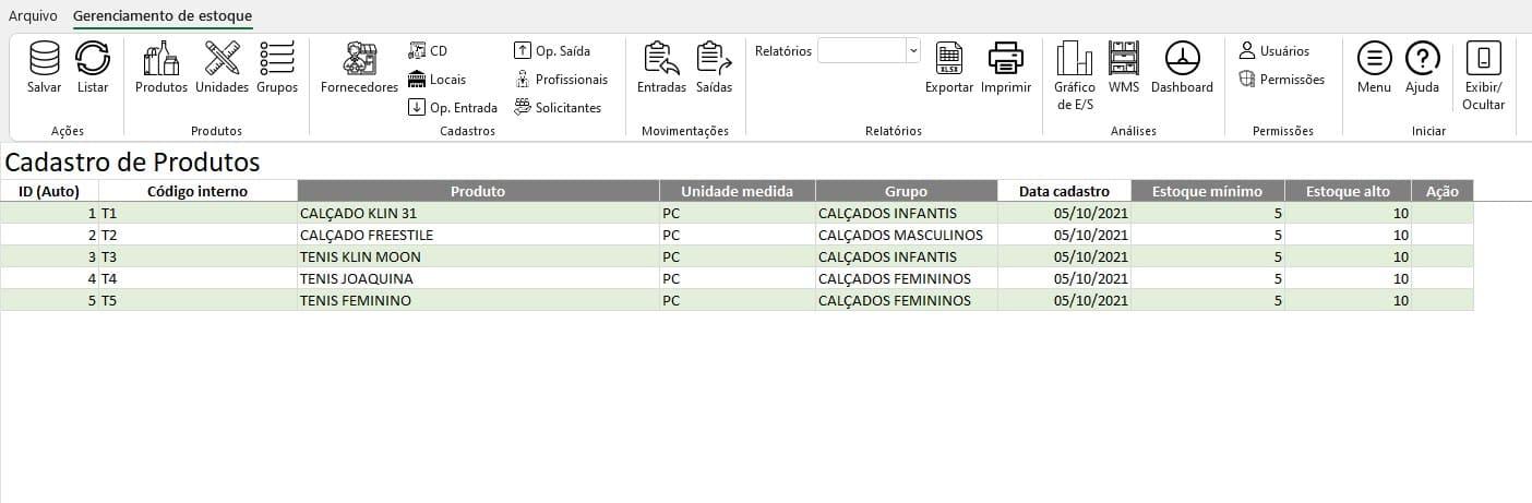 Planilha de Estoque Excel 3.0 1