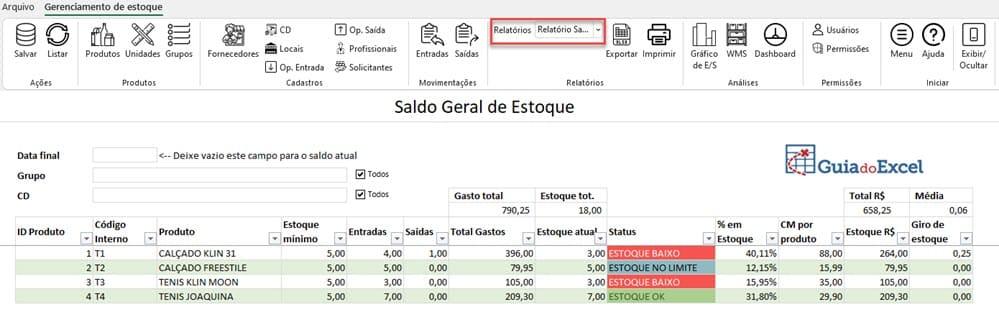 Planilha de Estoque Excel 3.0 3