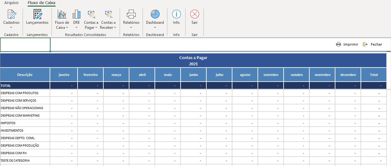 Sistema de contas a pagar e a receber com fluxo de caixa 9 Contas a pagar